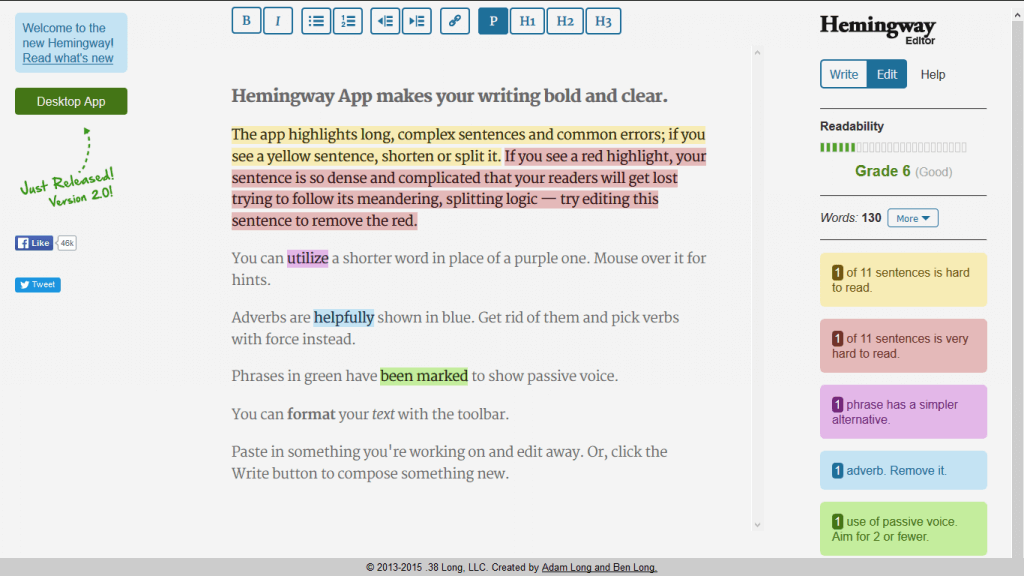 Hemingway App Helps You Make Your Copy Easier To Read
